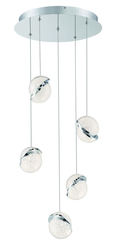 5 Light LED Pendant